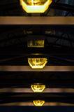 Tunnel lamp lights Stock Photo