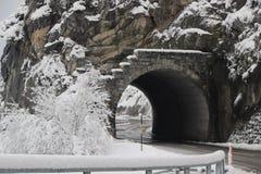 Tunnel in Landwasser, Spagna immagini stock libere da diritti