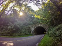 Tunnel leading to blue ridge parkway Stock Photography