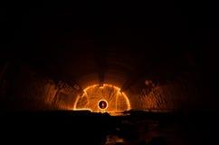 Tunnel leggero della scintilla Fotografie Stock Libere da Diritti