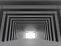 Tunnel with light Stock Photography