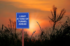 Tunnel light  Ahead Royalty Free Stock Photo