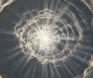 Tunnel of light royalty free illustration