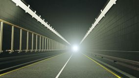 Tunnel with the light in end. In backgrounds stock video