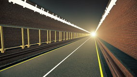 Tunnel with light in the end stock video footage