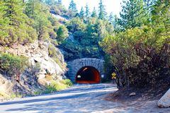 Tunnel with Light (Yosemite NP) Royalty Free Stock Photos