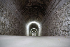 Tunnel lights Royalty Free Stock Photography