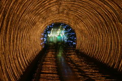 Tunnel lights Royalty Free Stock Photo