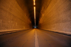 Tunnel and lights Royalty Free Stock Photos