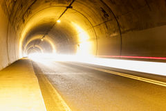 Tunnel with lights Royalty Free Stock Images