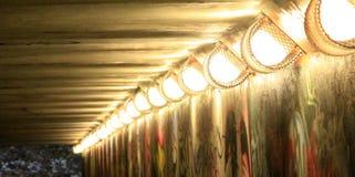 Tunnel lights Stock Photos