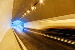 Tunnel with lights Royalty Free Stock Photo