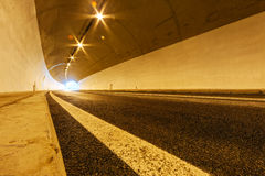 Tunnel with lights Stock Image