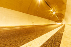 Tunnel with lights Stock Photo