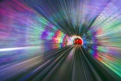 Tunnel Lights Stock Image