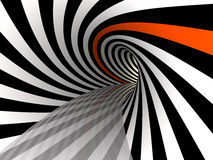 Tunnel of lines, 3D Royalty Free Stock Images