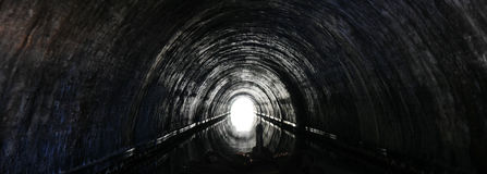 Tunnel on the London's Canal Stock Photos