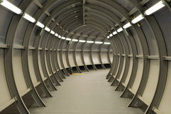 Tunnel made of metal construction Royalty Free Stock Photos