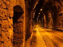Tunnel med bilen Fotografering för Bildbyråer