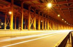 Tunnel met autolicht Royalty-vrije Stock Afbeeldingen