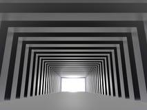 Tunnel met licht royalty-vrije illustratie