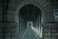 Tunnel met overwelfde galerijen, Parijs, Frankrijk Stock Fotografie