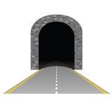 Tunnel met wegillustratie twee Stock Afbeelding