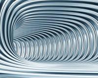 Tunnel metallico astratto Fotografia Stock Libera da Diritti
