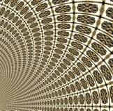 Tunnel mit Ziegeln gedeckt im Gold Lizenzfreie Stockfotografie