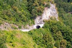 Tunnel in montagne della Serbia Immagini Stock Libere da Diritti