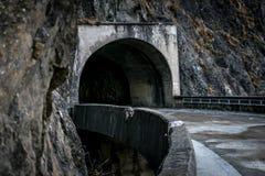 Mountain tunnel. At Vidraru Romania Royalty Free Stock Images