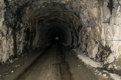 Mountain tunnel. At Vidraru Romania Stock Images