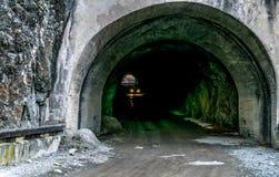 Mountain tunnel. At Vidraru Romania Stock Photos
