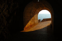 Tunnel Montenegro. Day time shot Royalty Free Stock Photography