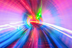 Tunnel with motion blur background Royalty Free Stock Photos