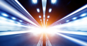 Tunnel. Motion Blur of the tunnel, exaggerated expression Royalty Free Stock Photography