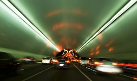 Tunnel motion blur San Fransisco Stock Photos