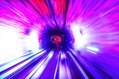 Tunnel Motion Blur Royalty Free Stock Photo