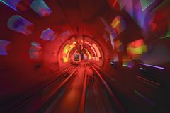 Tunnel Motion Blur Royalty Free Stock Photography
