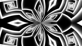 Tunnel Motion Effects with Flower Maze vector illustration