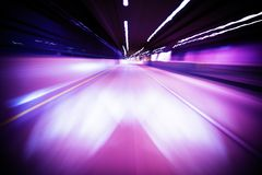 Tunnel in Motion Stock Images