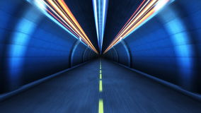 Tunnel  in motion stock video footage