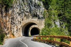 A tunnel on the mountain Stock Images