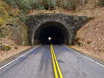 Tunnel through mountain Royalty Free Stock Photo