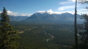 Tunnel mountain banff royalty free stock photography