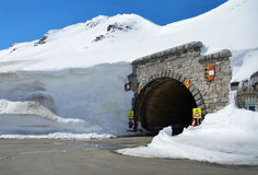 Tunnel in mountain Stock Image