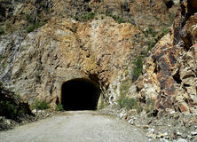 Tunnel on a mountain Royalty Free Stock Images