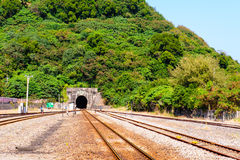 A tunnel in the mountains royalty free stock images