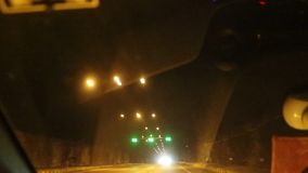 Tunnel on Mumbai-Pune express way. Passing through a tunnel on Mumbai-Pune express way by a car stock video