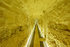 The tunnel of Musee Drai Eechelen (Three Acorns Museum) Royalty Free Stock Images